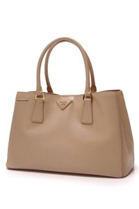 Prada Tote in Beige. Prada Small Executive - Beige Saffiano Leather Tote 14e4bc7c1aa41