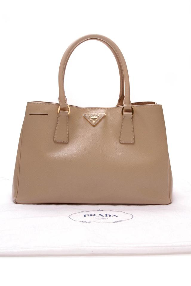 Prada Small Executive - Beige Saffiano Leather Tote - Tradesy ef505cd278fad