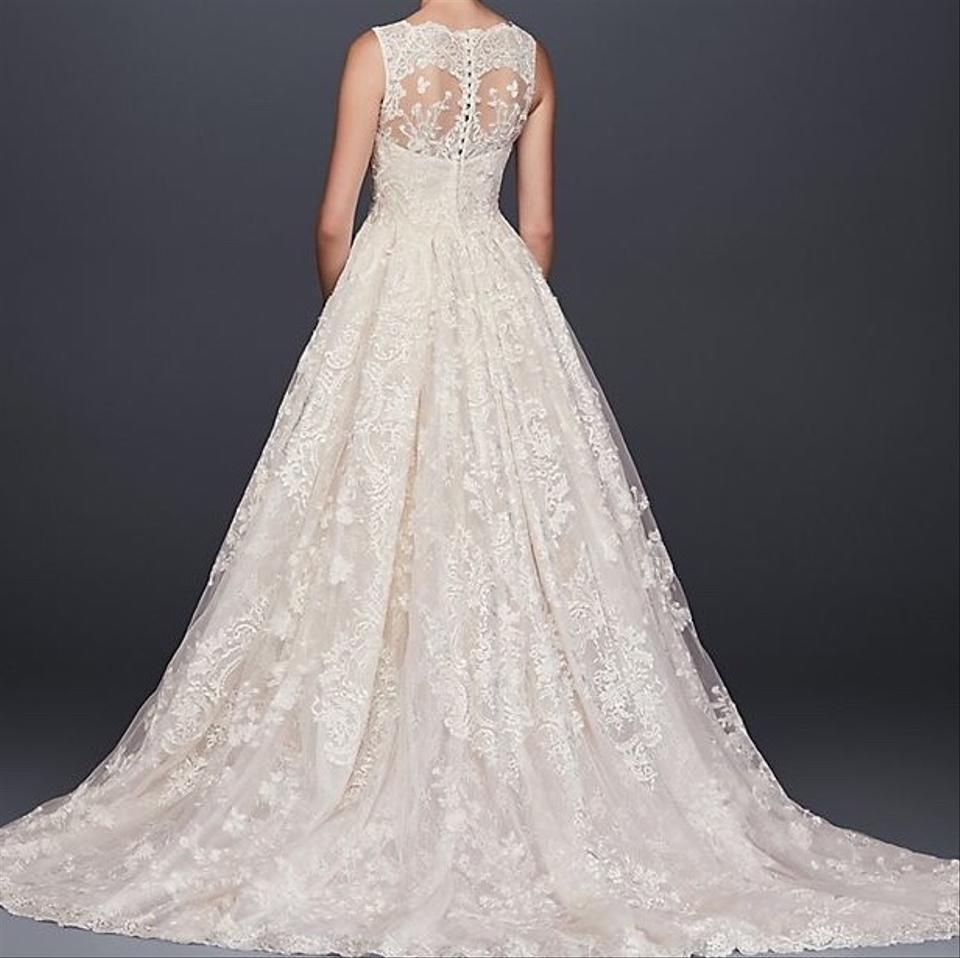 f565fa7d97016 Oleg Cassini Ivory Lace Ball Gown Formal Wedding Dress Size 6 (S ...