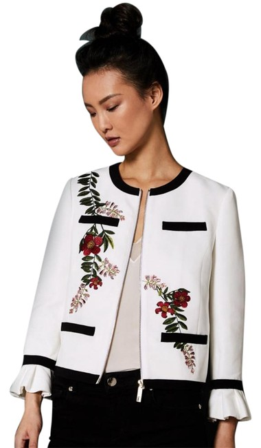 Item - Multicolor Aimmii Embroidered Ruffle Jacket Blazer Size 4 (S)