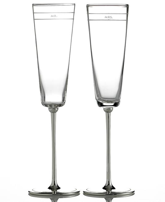 Item - Silver New York Set Of 2 Darling Point Toasting Flutes