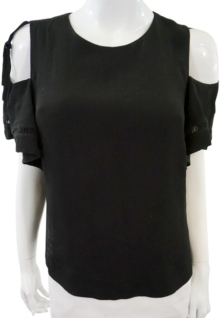 Preload https://img-static.tradesy.com/item/24813774/rebecca-taylor-black-shoulder-blouse-size-8-m-0-1-650-650.jpg