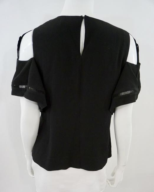 Rebecca Taylor Cold Shoulder Top Black Image 1