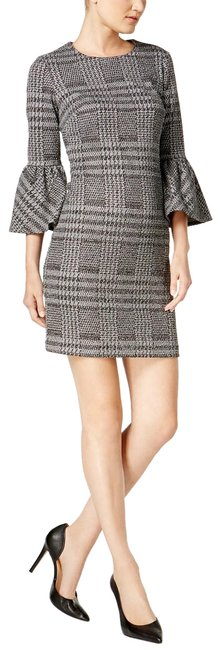 Preload https://img-static.tradesy.com/item/24813827/calvin-klein-gray-plaid-ponte-knit-bell-sleeve-mid-length-workoffice-dress-size-12-l-0-1-650-650.jpg