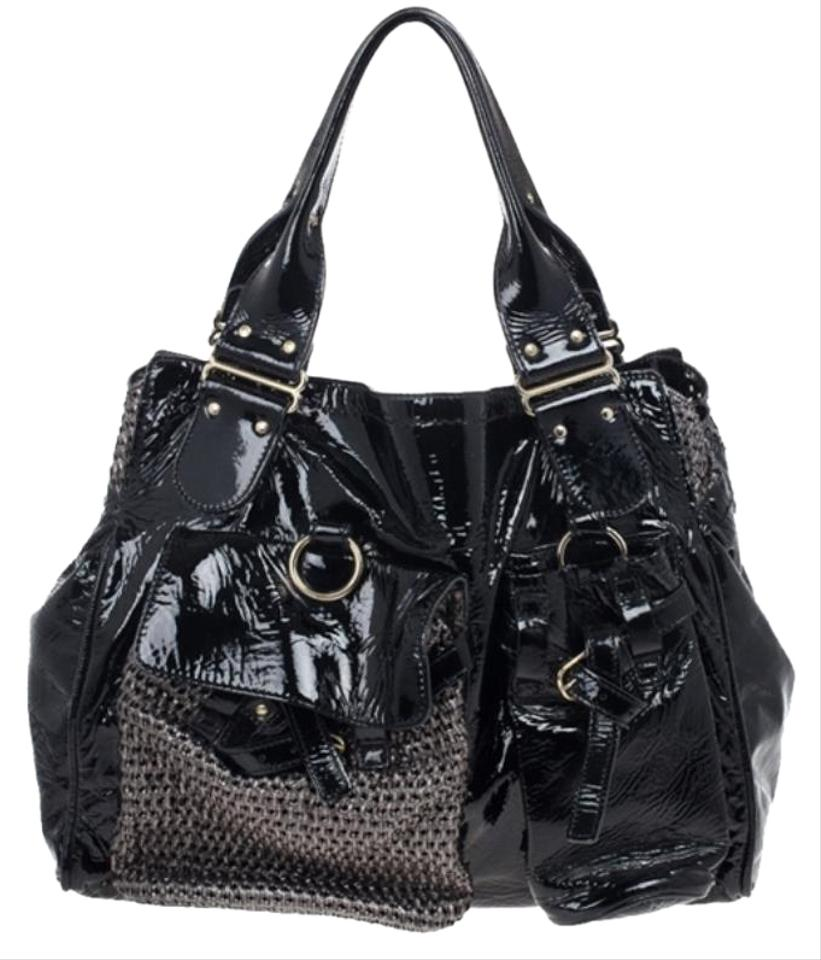 dc11b95651e3 Chloé Patent Ada Black Leather Tote - Tradesy