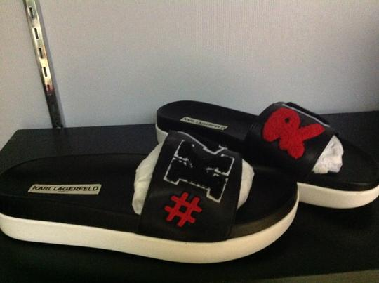 Karl Lagerfeld Bk/Red/BK Sandals Image 2