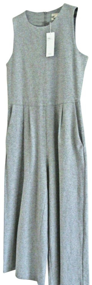 Clothing, Shoes & Accessories $278 Eileen Fisher Easy Cotton Jumpsuit Medium 10 12 Gray Pockets Relaxed Nwt