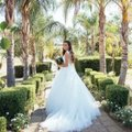 Allure Bridals Ivory Tulle and Lace (9162) Ball Gown Formal Wedding Dress Size 2 (XS) Image 1