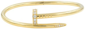 Cartier JUSTE UN CLOU Diamond Bangle Bracelet With Papers Size 17