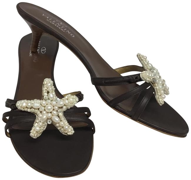 Item - Brown Leather with Pearl Starfish Sandals Size EU 39.5 (Approx. US 9.5) Regular (M, B)