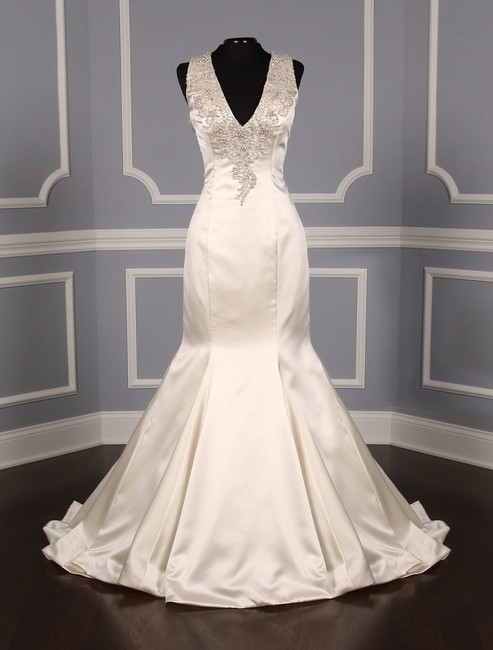 Item - Ivory Satin 9219 Formal Wedding Dress Size 12 (L)