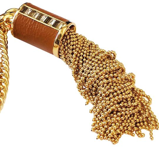 Preload https://img-static.tradesy.com/item/24814050/henri-bendel-gold-new-bead-tassel-and-leather-baguettes-necklace-0-1-540-540.jpg