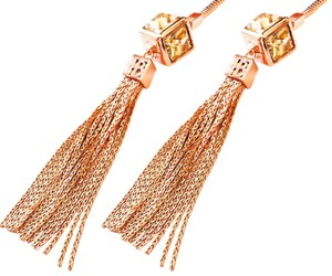 Henri Bendel New Henri Bendel ROSE GOLD Gem Lariat Tassel Statement Necklace