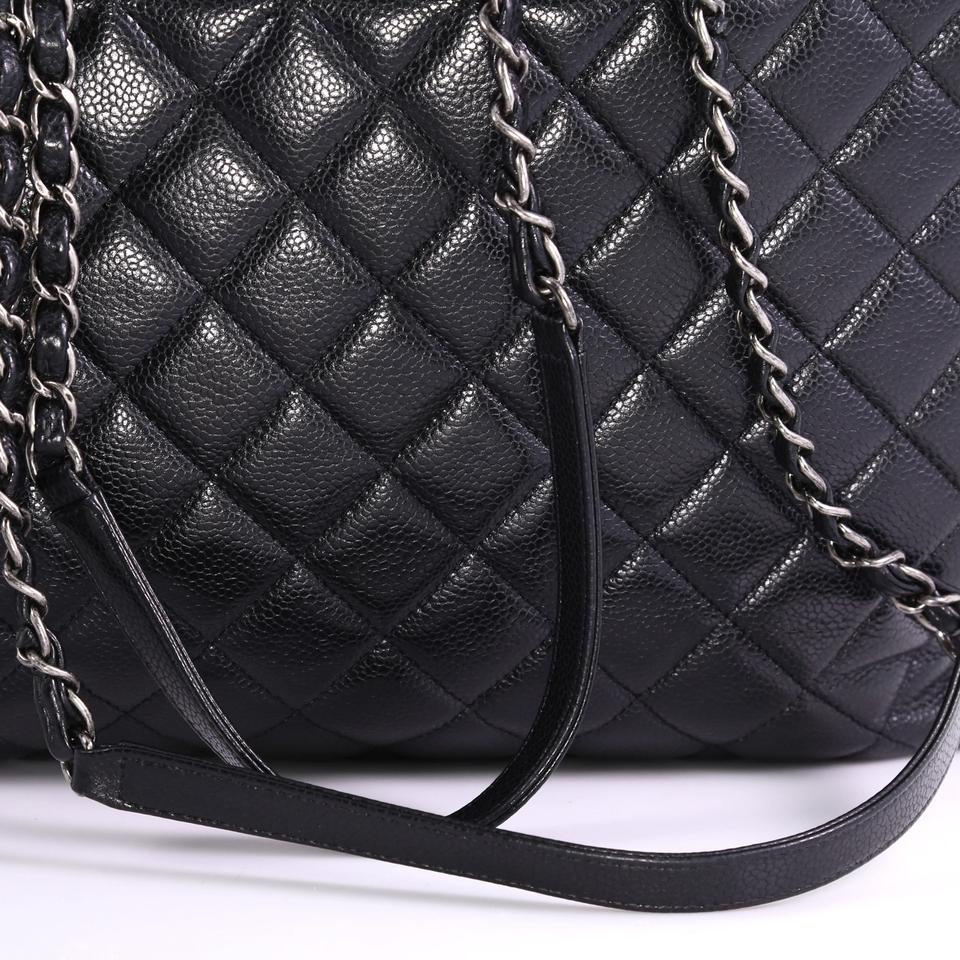 b7a888eddf5408 Chanel Shopping Tote Classic Cc Quilted Caviar Large Black Leather ...