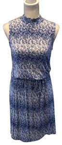 Loveappella short dress blue multi on Tradesy