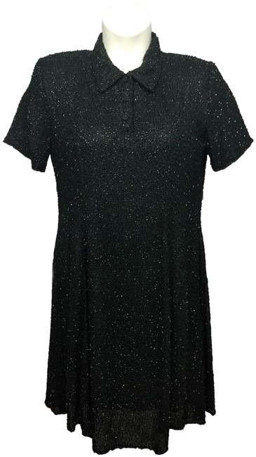 Item - Black Embellished Little Short Night Out Dress Size 14 (L)