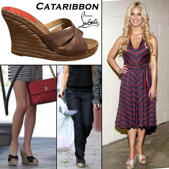 Christian Louboutin Brown Wedges Image 1