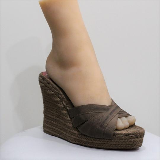 Christian Louboutin Brown Wedges Image 4