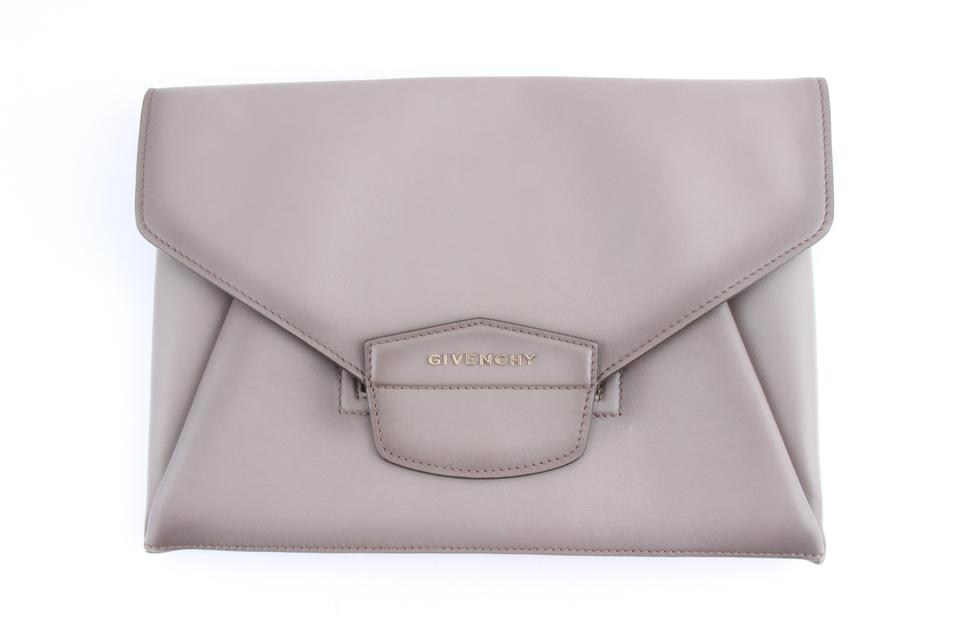 ef238442c2 Givenchy Women's 'antigona' Envelope Grey Leather Clutch - Tradesy