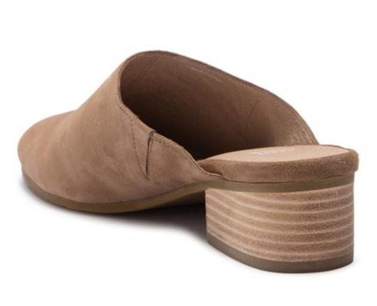 Eileen Fisher Almond Toe Slip On Suede Upper Lightly Padded Stacked Heel Sienna Mules Image 3