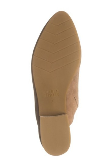 Eileen Fisher Almond Toe Slip On Suede Upper Lightly Padded Stacked Heel Sienna Mules Image 4