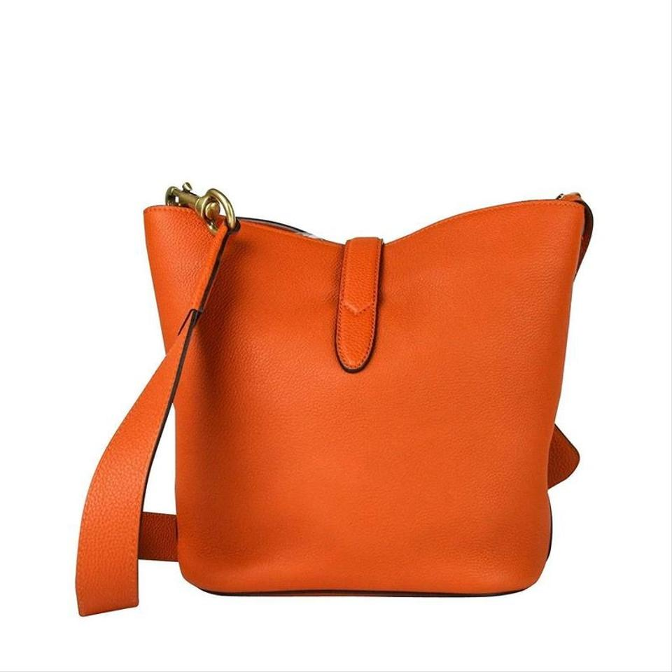 4da9b78741e Gucci Jackie Leather Bucket With Two Strap And Pouch Tote in Orange Image  8. 123456789