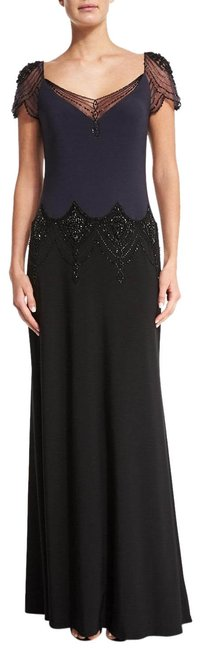 Item - Graphite Black Beaded Embellished Evening Gown Long Formal Dress Size 2 (XS)