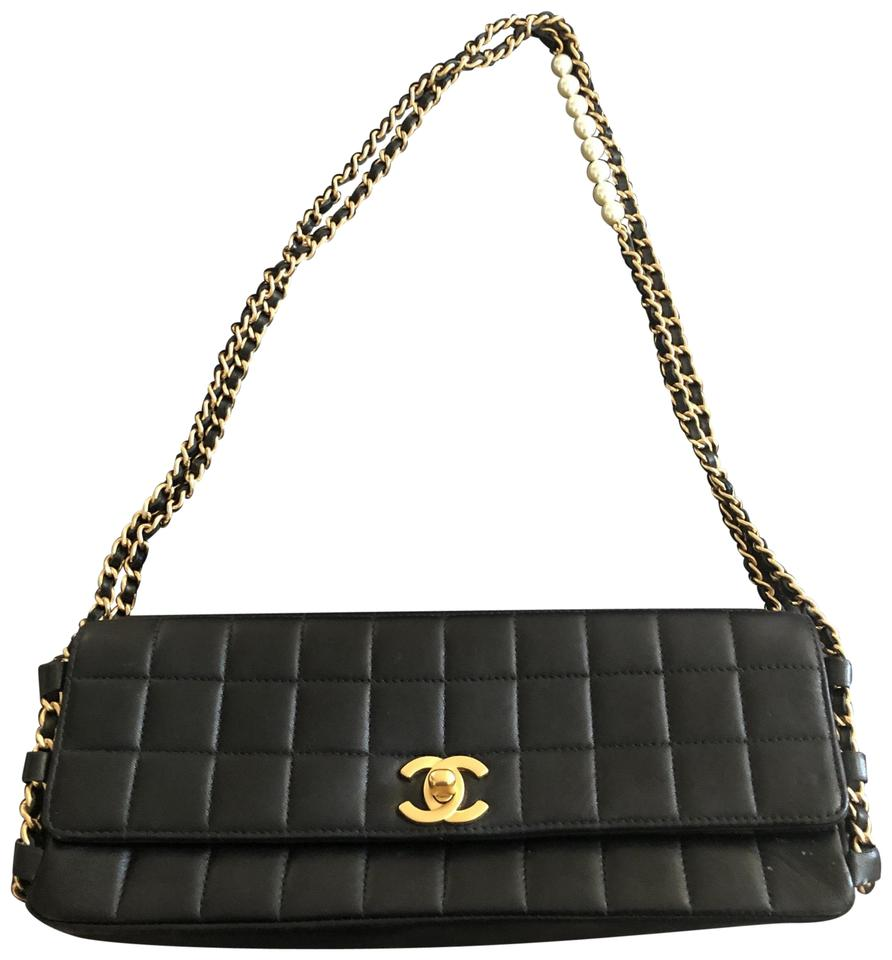 4dad80a7fa8c Chanel Flap Classic with Pearls Black Lambskin Leather Shoulder Bag ...