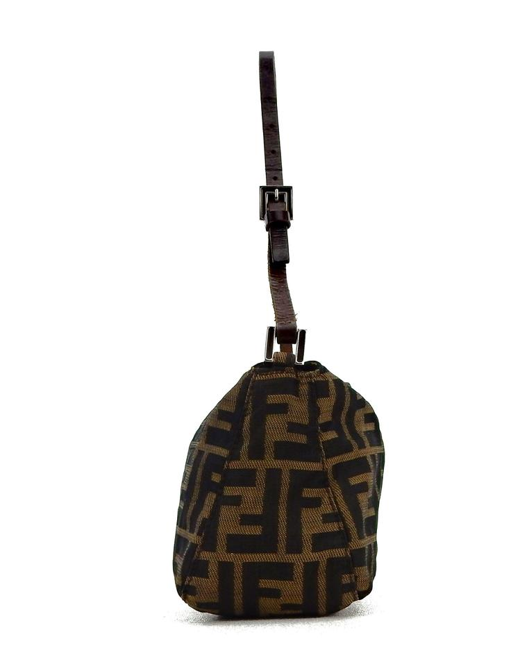 6cdb451c380c Fendi Vintage Pochette Brown Zucca Monogram Canvas Leather Shoulder Bag -  Tradesy
