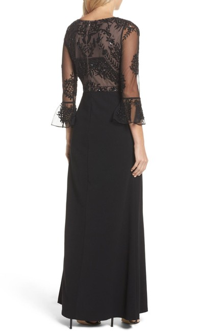 Adrianna Papell Embellished Ruffle Gown Slit Dress Image 2