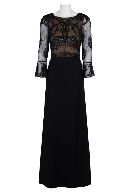 Adrianna Papell Embellished Ruffle Gown Slit Dress Image 3