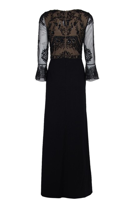 Adrianna Papell Embellished Ruffle Gown Slit Dress Image 5
