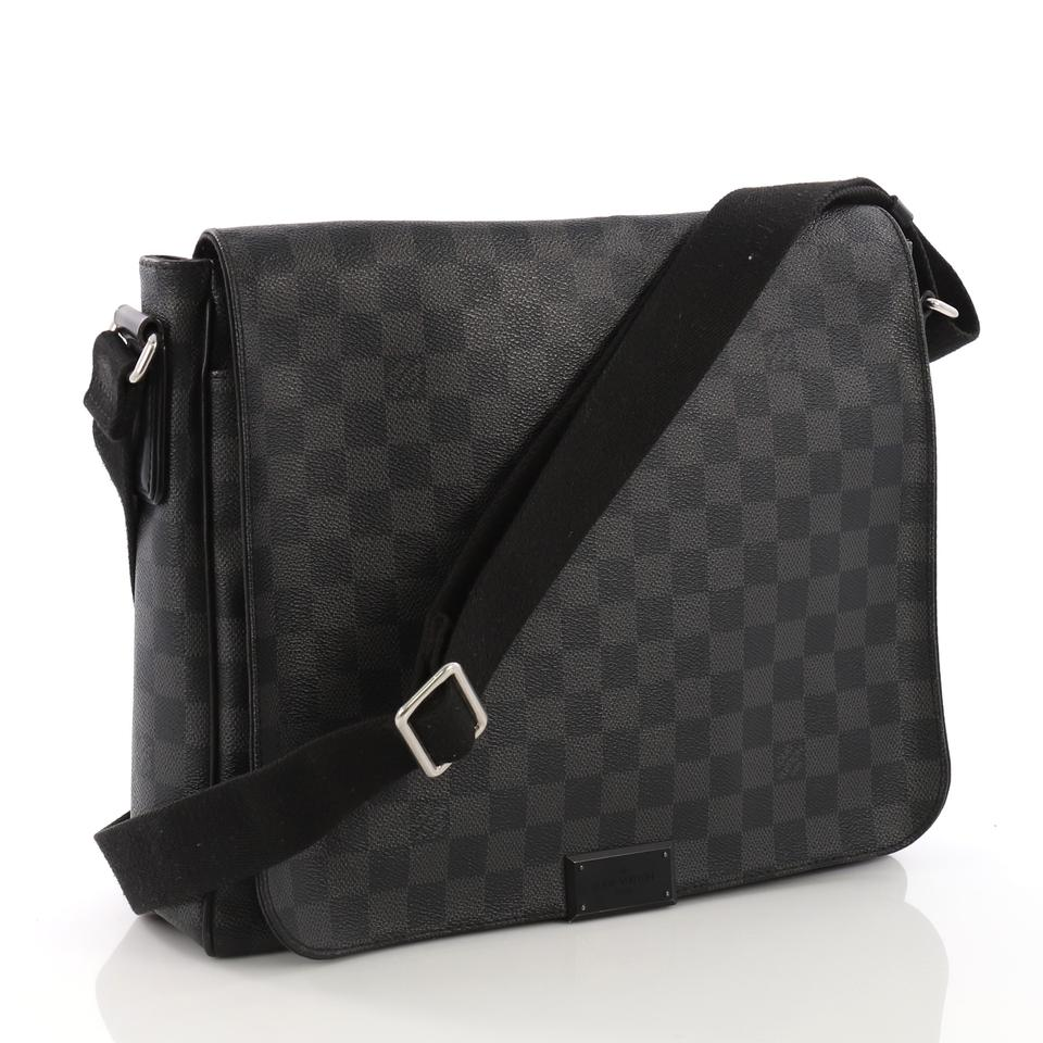 bc501c29a781 Louis Vuitton District Damier Graphite Mm Dark Gray Canvas Messenger ...