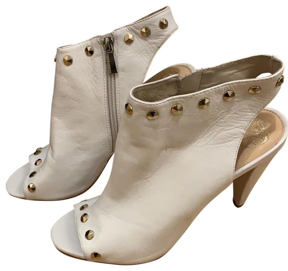 fb960f8a00d9 Vince Camuto White Open Toe and Heel Boots Booties Size US 10 ...
