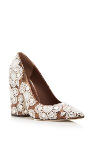 Tory Burch Hermes Louis Vuitton Fendi Gucci Faded Coffee, Ivory Pumps