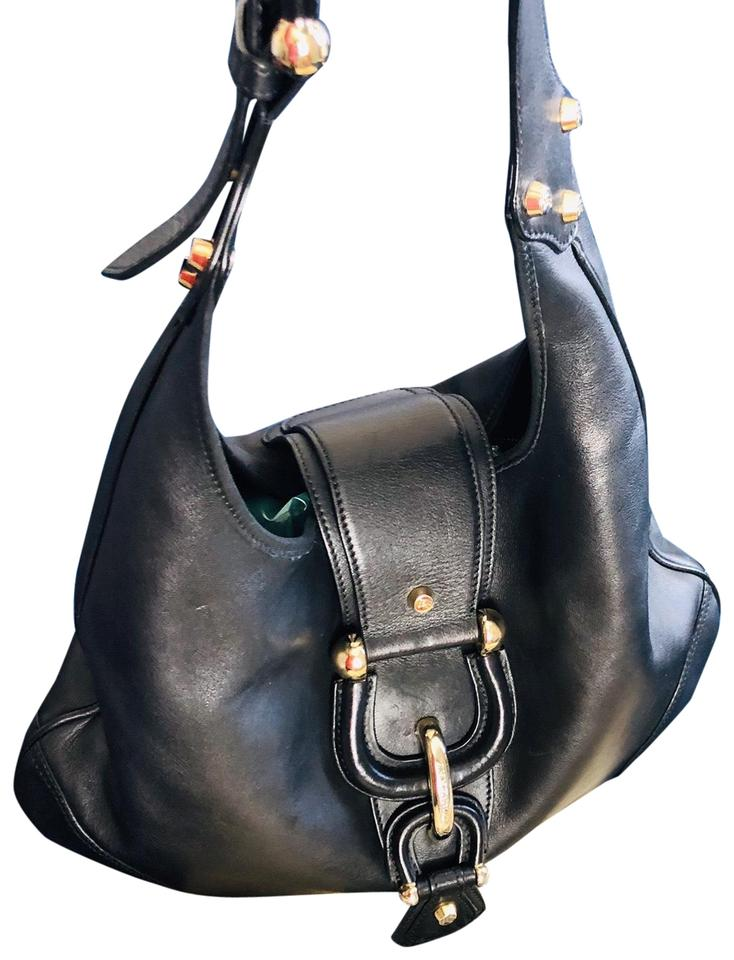 6c61172fb767 Burberry Soft with Silver Hardware Black Leather Hobo Bag - Tradesy