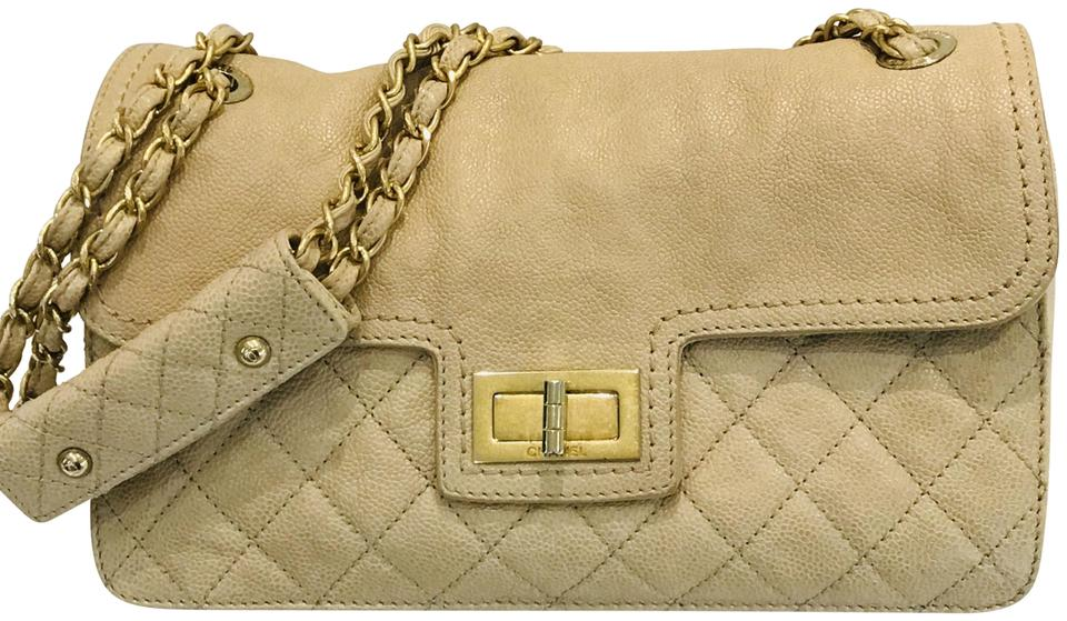 4e7aa283c0a9 Chanel Classic Flap Mademoiselle Lock Quilted Caviar Taupe Leather ...