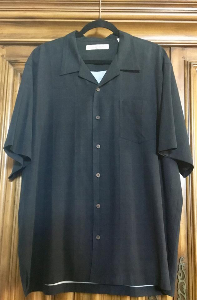 569c0b32 Tommy Bahama Black Tropical Pineapple Express Men's Button-down Top ...