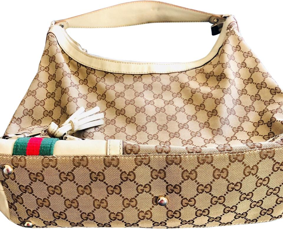 b5f45e315ff8d6 Gucci Monogram Brown Canvas Hobo Bag - Tradesy