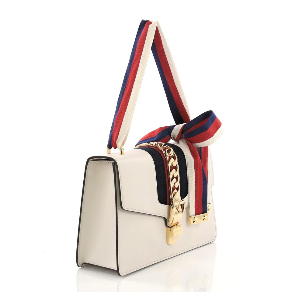 ec5372abaee Gucci Sylvie Small Off-white Leather Shoulder Bag - Tradesy