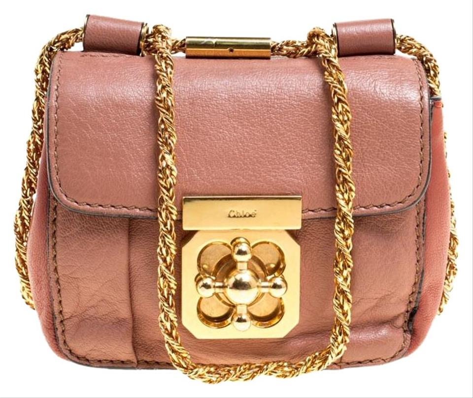 034693d16c83 Chloé Elsie Two Tone Peach Mini Pink Leather Cross Body Bag - Tradesy