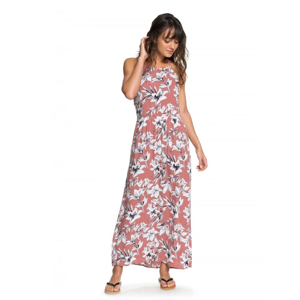 1d64bc9fabc6 Roxy Withered Rose Lily House Pavement Border Strappy Casual Maxi Dress