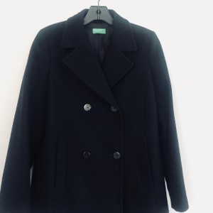 United Colors of Benetton Peacoat Wool Winter Black Jacket eac18eedf