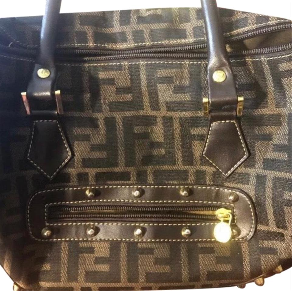 e3edfa33b2 Fendi Purse Roma Made In Italy Brown Satchel - Tradesy