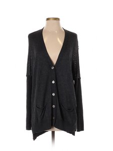 Anthropologie Bamboo Cashmere Mother Of Pearl Sweater Cardigan