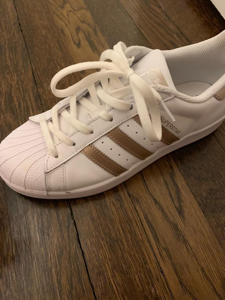 timeless design 78baa dfd8d adidas Rose Gold/White Superstar Sneakers Size US 6 Regular (M, B) 42% off  retail