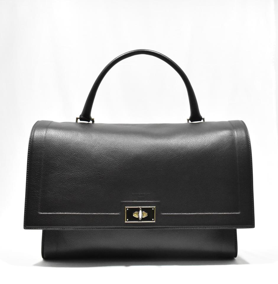 04de0796f10d Givenchy Large Shark Tote Black Leather Satchel - Tradesy
