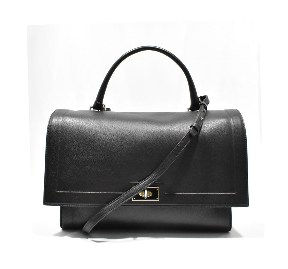 Givenchy Large Shark Tote Black Leather Satchel - Tradesy 5dc98f906d17e