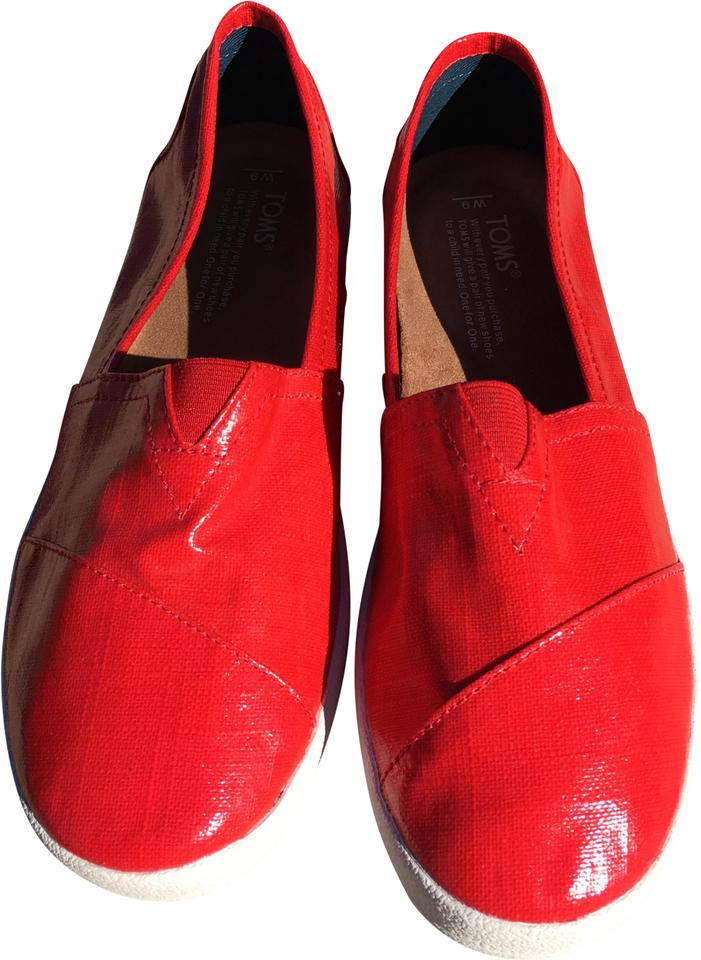 ddb78fd456f TOMS Red Avalon Slip-ons Flats Size US 9 Regular (M, B) - Tradesy