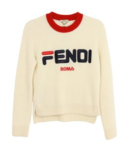 Fendi Mania Crewneck Ivory Sweater